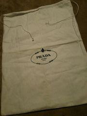 正規品PRADAプラダバッグ収納袋ホワイト白ブラックロゴ黒ギフト