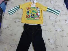 Tシャツ(長袖)ズボン付き 90 アンパンマン