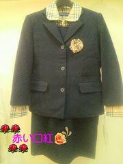 130�p〜*サービスビックリ価格冠婚葬祭スーツ5点セット紺
