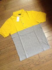 新品RAGEBLUE バイカラーポロシャツ 灰×黄 レイジブルー