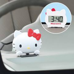 【キティ】可愛い時計.日付.秒表示♪角度調整可能デジタルクロック