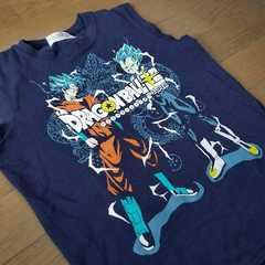 ★ドラゴンボール超ノースリーブ型Tシャツ140�a孫悟空ベジータ柄