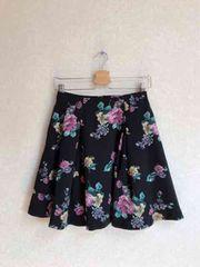 レディアゼル☆2重織花柄フレアスカート