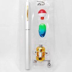 すぐ使える携帯用釣りセット ペン型コンパクトロッド シルバー
