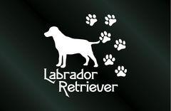 肉球いっぱい 犬のステッカー ラブラドールレトリーバー