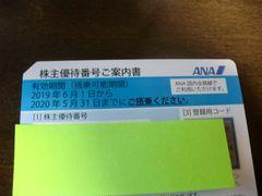 送料込み!ANA(全日空)株主優待券2枚 来年5月迄