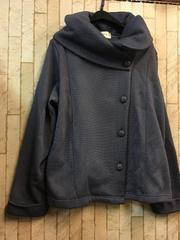 新品☆4L裏起毛柔らかデザインジャケット☆g834