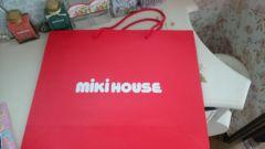ミキハウス紙袋大サイズ新品ショッパー