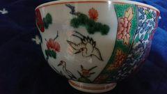 伊万里焼赤絵松竹梅絵茶碗…窯印