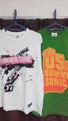SUMMERSONIC☆サマソニ未使用Tシャツ2枚セット送料込