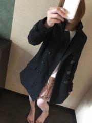 ピーコート☆黒 大き目サイズ