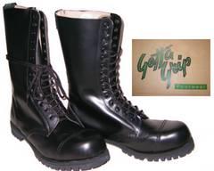 ゲッタグリップおでこ靴14ホール ブーツ新品7514BLスチール入uk8
