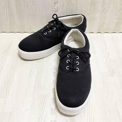 【used】厚底スニーカー/黒/サイズL/靴幅8.5cm/底厚み3cm