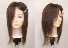 新品 風に強い 新品 人毛 部分カバー ロング ブラウン