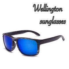 サングラス ウェリントン UV400 紫外線カット 男女兼用 ブルー