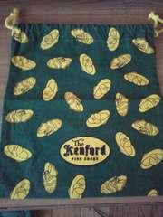 REGALショップの巾着(靴柄)/緑地/非売品/24×22cm/レア物