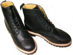 ゲッタグリップ ウィングチップ ブーツ8510BLカジュアルuk8