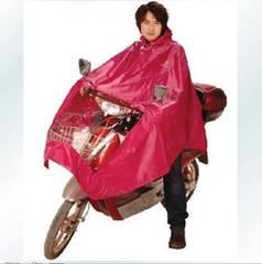 梅雨/防雨⇒安心/安全なバイク&自転車用レインポンチョ