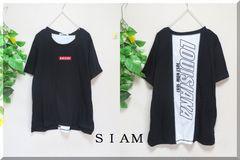 新作☆大きいサイズ☆3Lブラック☆背ホワイト切替&英字☆Tシャツ