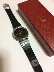 オメガ デビル フェイスブラック腕時計