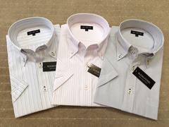 半袖ワイシャツ新品 ストライプA 3枚セット Lサイズ
