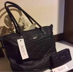 新品 ☆ ROXY ☆大型トートバッグと長財布セット ☆格安、お得!