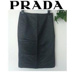 良品 プラダ タイト ペンシル スカート フォーマル シンプル 黒