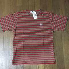 カラフルボーダー 半袖Tシャツ ゆったりMサイズ 綿100% 日本製