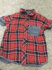 男の子用  半袖シャツ リバーシブル  100
