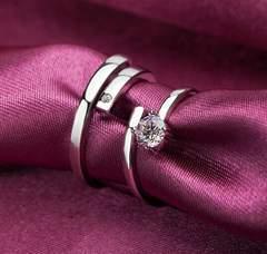 1円〜カップル 2点 ダイヤ フリーサイズ リング 9号〜23号 指輪