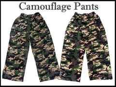 新品ビッグサイズ迷彩 カーゴ ゴム式パンツ #4 80-116cm カモ ワイドバギー
