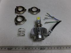 バイク LEDヘッドライト HI-LO PH7.PH8.H4 3面発光18W 送料込