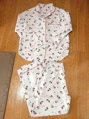 超美品 GU WOMEN パジャマ (ディズニーA) COTTON BLEND ライトパープル M