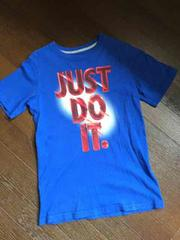NIKE☆JUST DO ITロゴTシャツ・ブルー