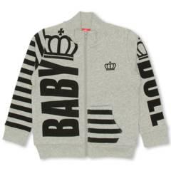 新品BABYDOLL☆140 ジップジャケット グレー 王冠 ロゴ ベビードール