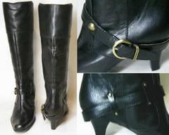新品サヴァサヴァcavacava本革ロング ブーツ16925BL22.5cm