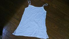 肩から裾まで74cm 白 キャミ