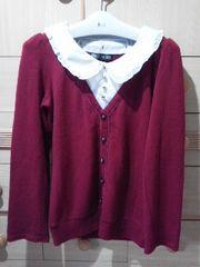 セシルマクビー衿が取り外せるセーター/送料360円