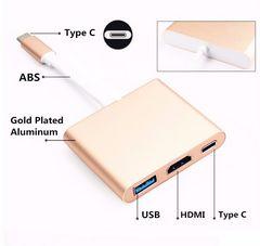 3 in 1 Type C to HDMI 4K対応 USB 3.0 HDMI Type C アダプター