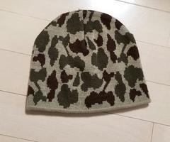 カモフラ柄迷彩ビーニーニット帽