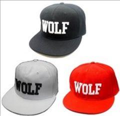 ★大人気★ WOLF BBキャップ 帽子 黒 他カラー有