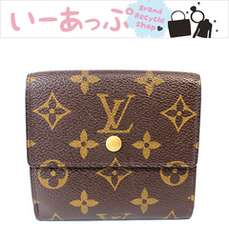 美品 ルイヴィトン 2つ折り財布 モノグラム Wホック財布v73