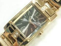 7924/kooKAIブレスレット型レディース腕時計ゴールドカラー素敵なデザイン