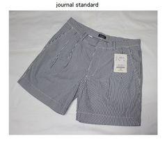 ジャーナルスタンダード*journal standardサッカー地ツータックショートパンツ(38)新品