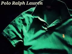 【POLO】ラルフローレン Vintage Destroyed デストロイポロシャツ LL/Green