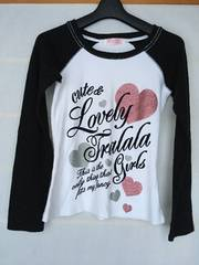 N2m TRALALA ラグラン 長袖 Tシャツ M リズリサ 白黒
