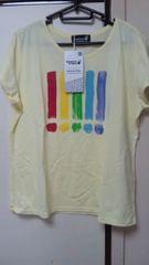 ベルメゾン購入・デザイナーTシャツ LL未使用品