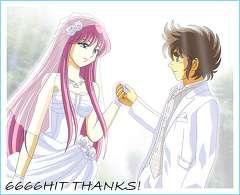 星矢と沙織さんの結婚式の生写真