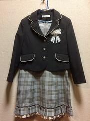キッズ用 フォーマル スーツ130 グレー 入学式