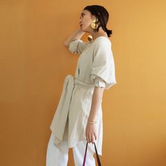 Belted Shirts Gown